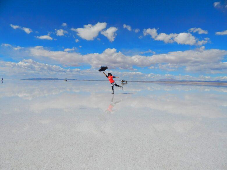 海外、ボリビア、ウユニ湖、私