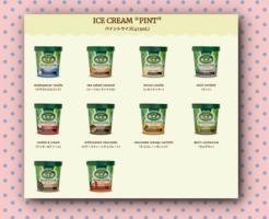 11種類のアイスクリーム